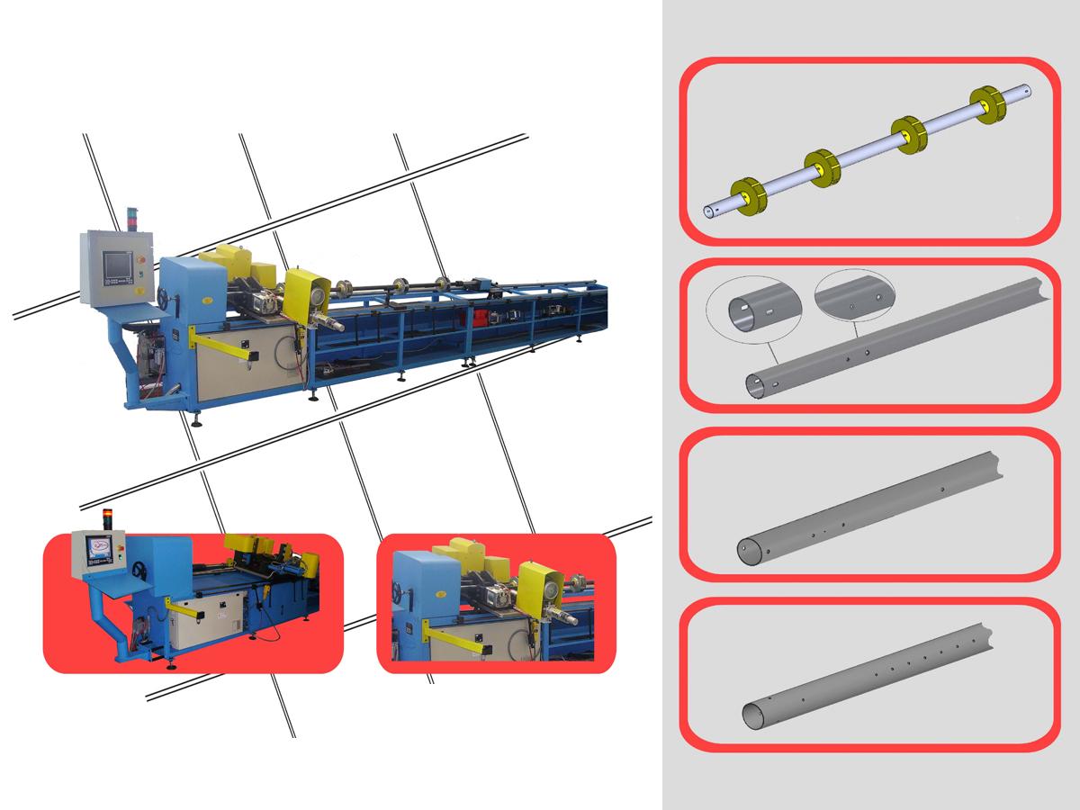 macchina per lavorazione assi serrande foratura assi serrande montaggio scatolo serrande