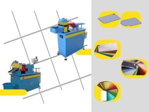 Macchina per produrre mazzette colori di varie tipologie e grandezze a partire da nastro. automatica, pneumatica o oleodinamica, con avanzatore e svolgitore