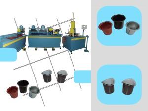 Macchina / banco oleodinamico per produrre bocchette francesi e di varie tipologie per raccordi di canali pluviali. Completa di centrale oleodinamica