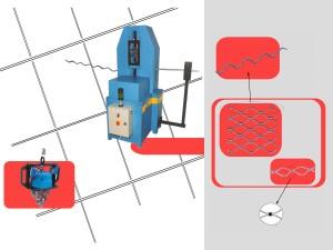 Macchina semi-automatica oleodinamica, per la sagomare e produrre tubonde per serrande. Completa di centrale oleodinamica e pannello elettrico