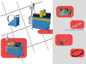lavorazione e produzione di molle per serrande a partire da coils, per effettuare lavorazioni di piegatura, foratura, smusstura e tranciatura di varie tipologie di molle per serrande avvolgibili