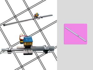 Macchina pneumatica con sistema di centraggio per effettuare il taglio, lo smusso e la foratura di astine in plastica per maniglie, nella lavorazione delle zanzariere. Può lavorare astine di diverse dimensioni. Possibilità di basamento, azionamento a pedale.