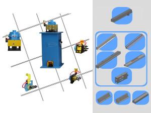 Machines for making roller blinds for working mosquito nets profiles macchine pneumatiche per la lavorazione di profili zanzariera