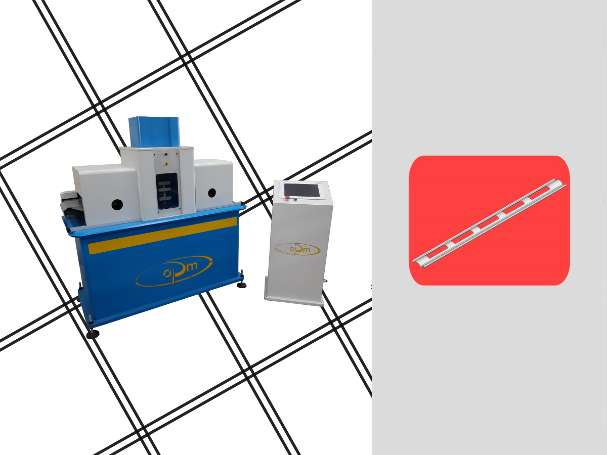 Automatic machine for processing profiles with possibility to change the mold and make other workings for slotting holing drilling proiles for aluminium rolling shutters with double electrical advancer