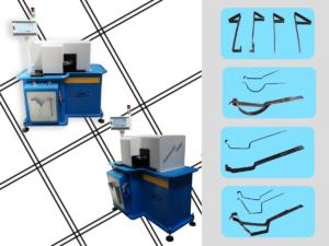 Macchina automatica per la produzione di staffe / supporti per grondaie / per gronde in lattoneria Completa di sistema software dedicato per la gestione completa della produzione, con possibilità di personalizzare dimensioni e curve di ogni parte delle staffa
